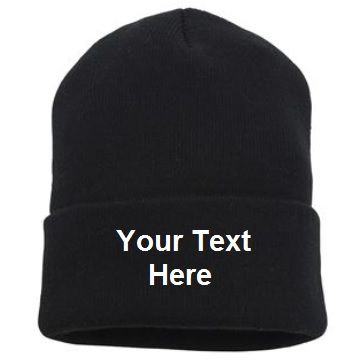 6de82127d00 Personalised Knitted Hat turn-up beanie - Nutshell NS001